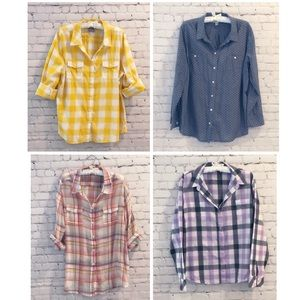 Bundle of 4 Old Navy Button Down Shirts